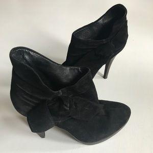 ALDO   Black Suede High Heel Booties